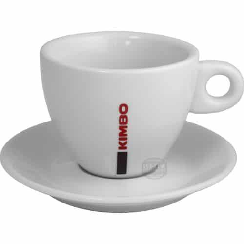 Φλυτζάνι καφέ Kimbo Cappuccino Large πορσελάνης με πιατάκι 1 τεμάχιo
