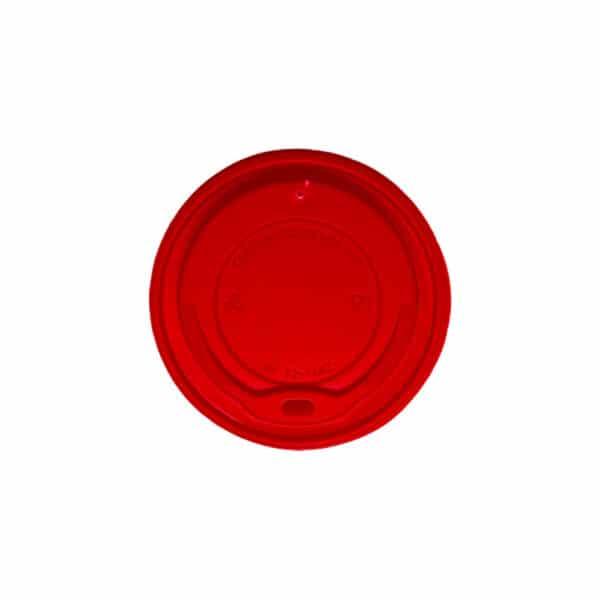 Καπάκι Πιπίλα Κόκκινο για Χάρτινο Ποτήρι 12-16 ΟΖ 100 τεμ