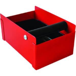 Κουτί μετ/κό για υπολ.καφέ κόκκινο